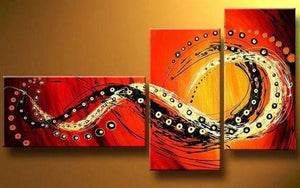 Bedroom Wall Art, Canvas Painting, Large Painting, Red Abstract Art, Abstract Painting, Acrylic Art, 3 Piece Wall Art - Art Painting Canvas