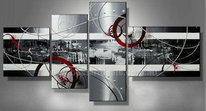 Abstract Art, Extra Large Painting, 4 Pannel Set, Modern Art for Sale, Buy Contemporary Art