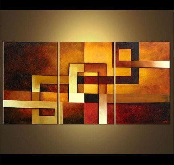 Canvas Painting Set, Abstract Art, 3 Piece Wall Art, Abstract ...