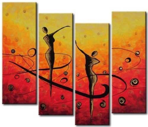 Ready to Hang Art, Modern Art, Wall Painting, Acrylic Art, Abstract Art, Abstract Painting, 4 Piece Wall Art