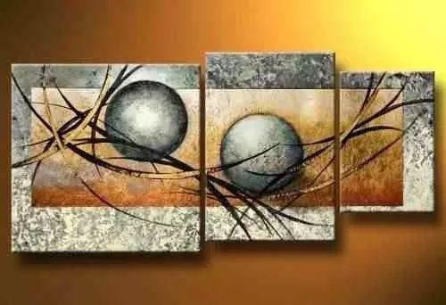 Abstract Painting, Flower Painting, Canvas Painting, Large Painting, Living Room Wall Art, 3 Piece Wall Art