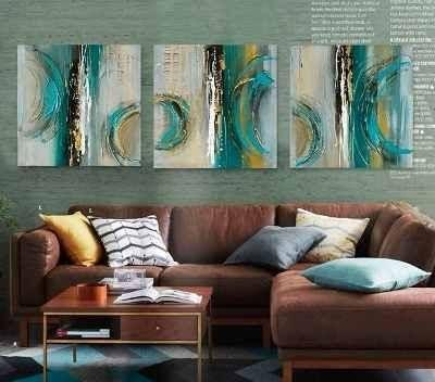 Abstract Art Painting, Large Oil Painting, Modern Wall Art, 3 Piece Art Set, XL Large Painting - Art Painting Canvas