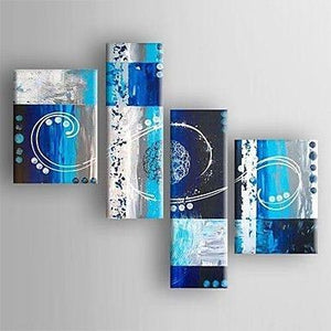 Extra Large Painting, Living Room Wall Art, Abstract Art Set, 4 Piece Abstract Painting, Modern Art, Contemporary Art