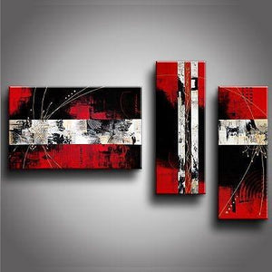 Contemporary Art, Abstract Modern Art, Bedroom Wall Art, Red Canvas Art, Canvas Painting