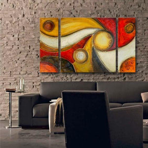 Canvas Painting Set, Abstract Art, 3 Panel Wall Art, Large Oil Painting, Contemporary Art