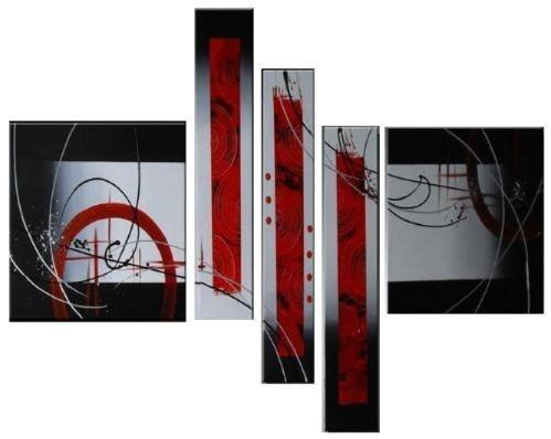 Modern Art, Large Wall Art, Abstract Art Painting, 5 panel Canvas Painting