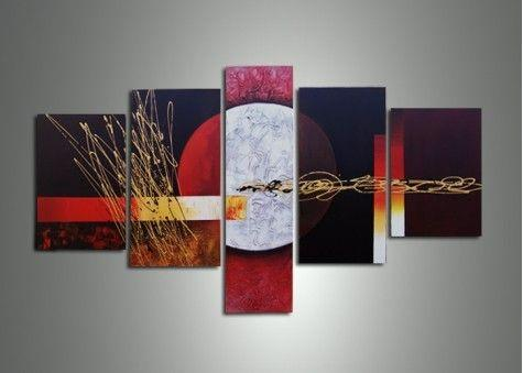 Large Art, Abstract Painting, Canvas Painting, Abstract Art, 5 Piece Wall Art, Canvas Art Painting, Ready to Hang