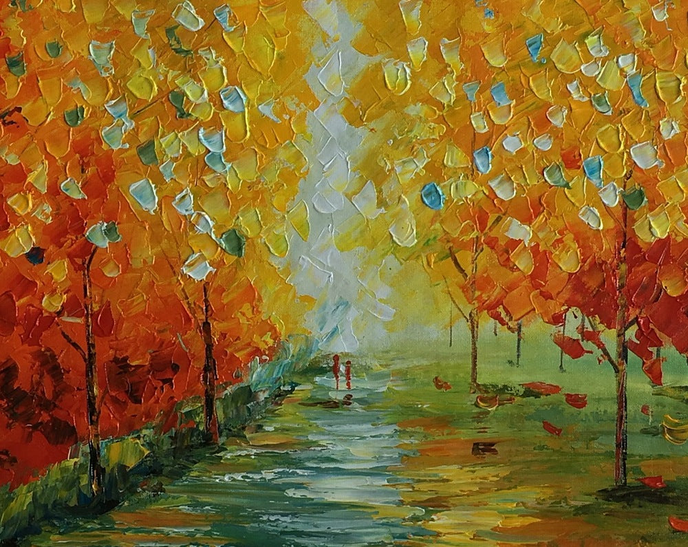 Autumn Landscape, Abstract Art, Contemporary Art, Original Oil ...