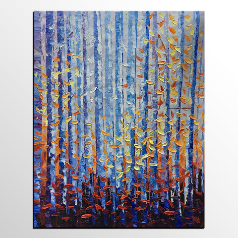Birch Tree Painting, Abstract Painting, Landscape Art, Large Canvas Art, Oil Painting, Canvas Painting, Abstract Art, Large Painting On Canvas, Contemporary Art, Original Art