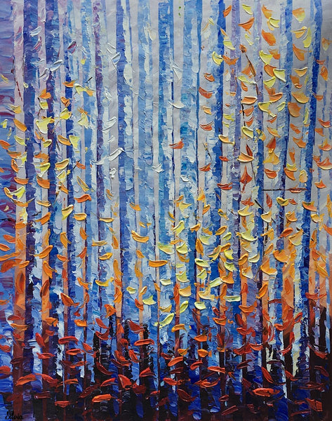 Birch Tree Painting, Abstract Painting, Landscape Art, Large Canvas Art, Oil Painting, Canvas Painting, Abstract Art, Large Painting On Canvas, Contemporary Art, Original Art - Art Painting Canvas