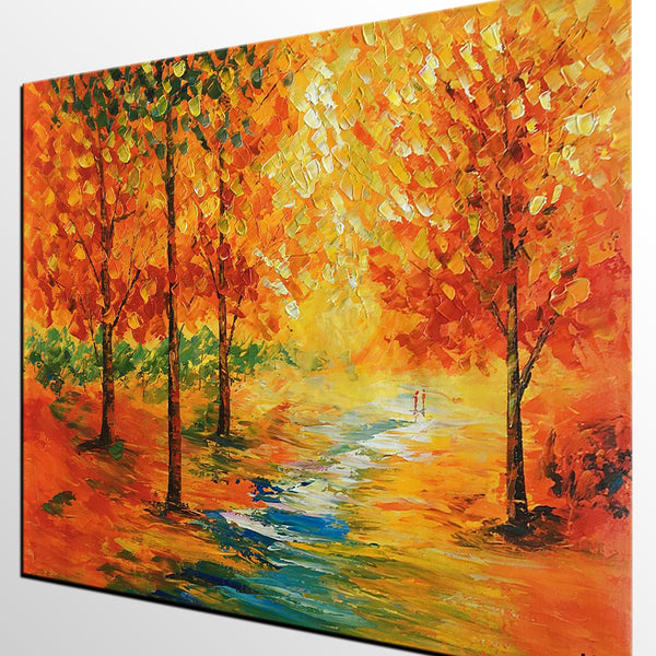 Large Art, Canvas Art, Wall Art, Landscape Painting, Abstract Painting, Oil Painting, Autumn Painting, Wall Art, Abstract Art, Oil Painting