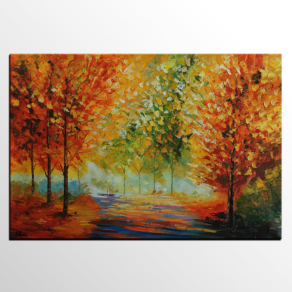 Abstract Painting, Landscape Painting, Art, Large Art, Canvas Art, Wall Art, Abstract Art, Large Painting, Oil Painting, Autumn Painting - Art Painting Canvas