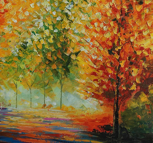 Abstract Painting, Landscape Painting, Art, Large Art, Canvas Art, Wall Art, Abstract Art, Large Painting, Oil Painting, Autumn Painting