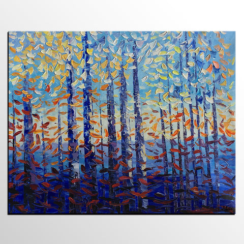 Abstract Painting, Large Canvas Art, Birch Tree Art, Abstract Landscape Art, Oil Painting, Canvas Painting, Abstract Art, Large Painting On Canvas, Contemporary Art, Original Art