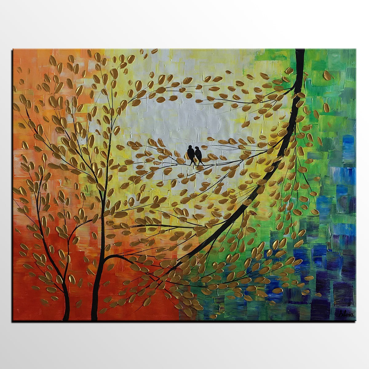 Acrylic Painting Love Birds Painting Modern Painting