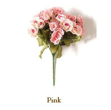 Little Pink Rose Flower, Faux Flower, Real Touch Flowers, Silk Floral Arrangement, Wedding Gift