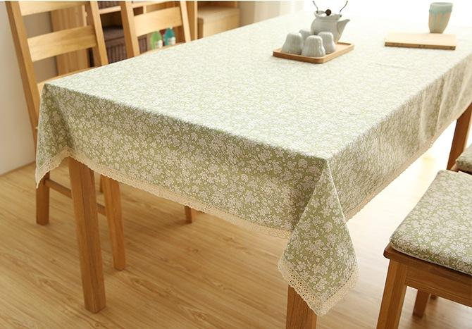 Cotton Small Calico Tablecloth for Dining Table, Tea Table, Cabinit, Bedstand