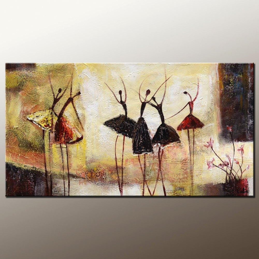Abstract Art, Contemporary Wall Art, Modern Art, Ballet Dancer Painting, Art for Sale, 100% Hand Painted Art - Art Painting Canvas