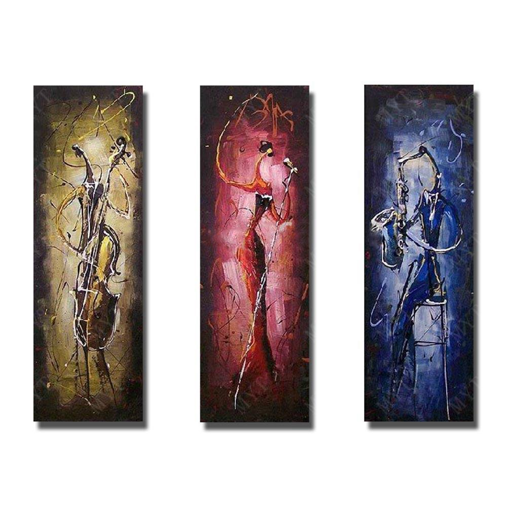 Cellist, Singer, Saxophone Player, Musical Instrument Player Painting, Bedroom Abstract Painting