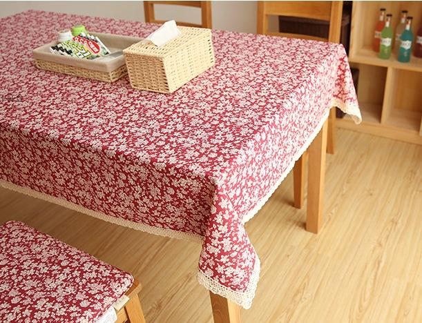 Cotton Small Calico Tablecloth For Dining Table Tea Table Cabinit Art Painting Canvas