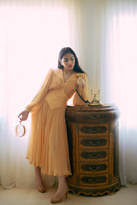 RAE JOSEPH - Peach Chiffon Dress