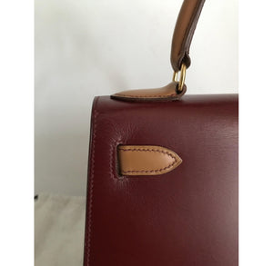 HERMES - Kelly leather tri-color handbag