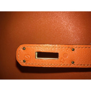 HERMES - Kelly leather handbag