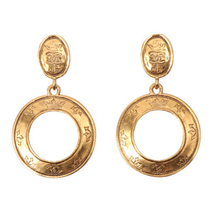 CHANEL - Gold Circle Earrings