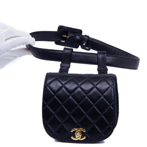 CHANEL - Chanel Quilted Chain Waist Bum Bag