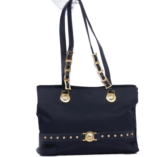 VERSACE - Versace Logo Nylon Shoulder Tote Bag