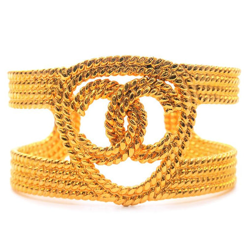 CHANEL - Gold Bangle Bracelet