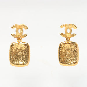 CHANEL - Gold Square Earrings