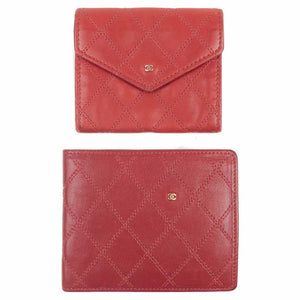 CHANEL - Cherry Red Wallet & Coin Pouch