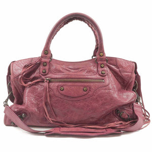 BALENCIAGA - Warm Purple Leather Bag