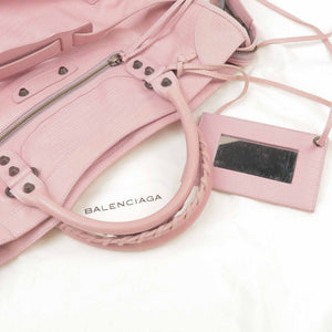 BALENCIAGA - Baby Pink Leather Bag