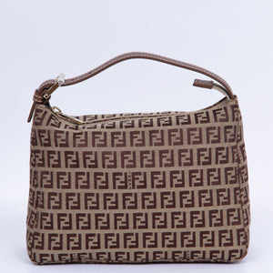 FENDI - Fendi Zucchino Beige Shoulder Bag