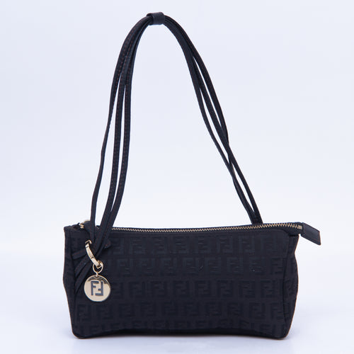 Fendi - Zucchino Black Shoulder Bag
