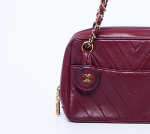 CHANEL - Chanel Burgundy Chain Bag