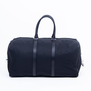 PRADA- Nylon and Leather Boston Bag