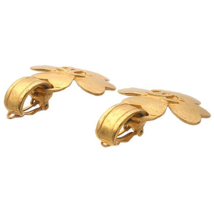 CHANEL - Gold Logo Earrings