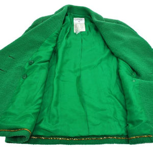 CHANEL - Green classic jacket