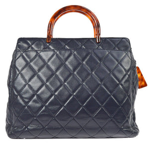 CHANEL - Leather & Tortoise Shell