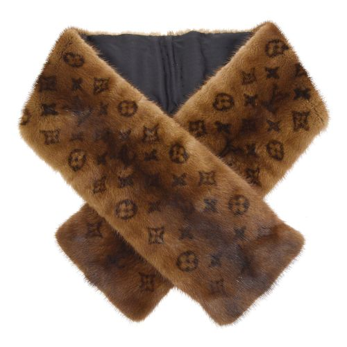 LOUIS VUITTON - Monogram Fur Echarpe