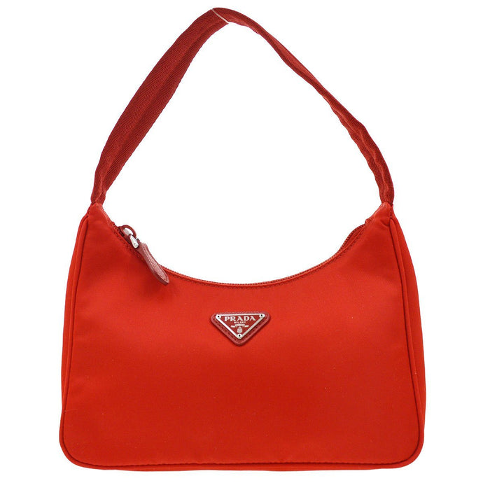 PRADA- Red Logo Bag