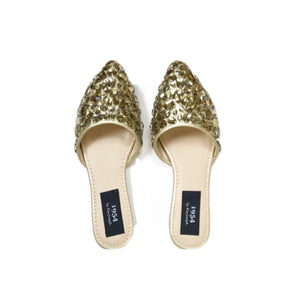 RAE JOSEPH - Gold crystal slippers