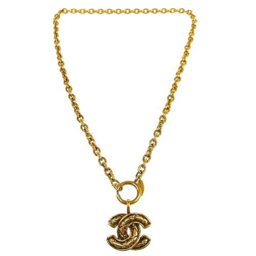 CHANEL - Gold Logo Necklace