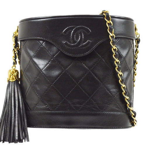 CHANEL - Fringe Black Bag