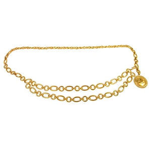CHANEL - Gold layered belt