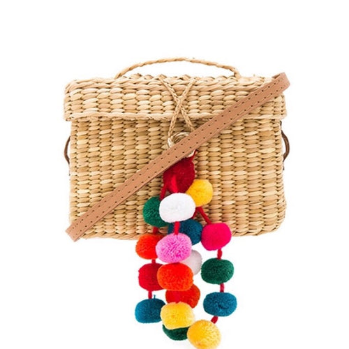 RAE JOSEPH - Box Straw Bag w/ Tassels