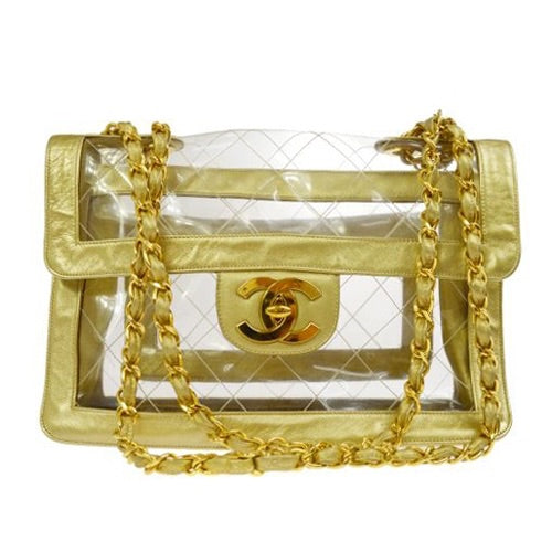 Chanel - Jumbo Gold & Vinyl Bag